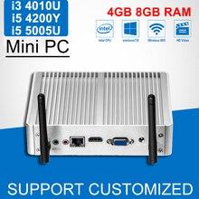 Mini PC Windows 7 Intel Core i3 5005U 4010U i5 Mini Computer 4200Y Fanless Office Desktop Computer With WIFI NIC HTPC HDMI
