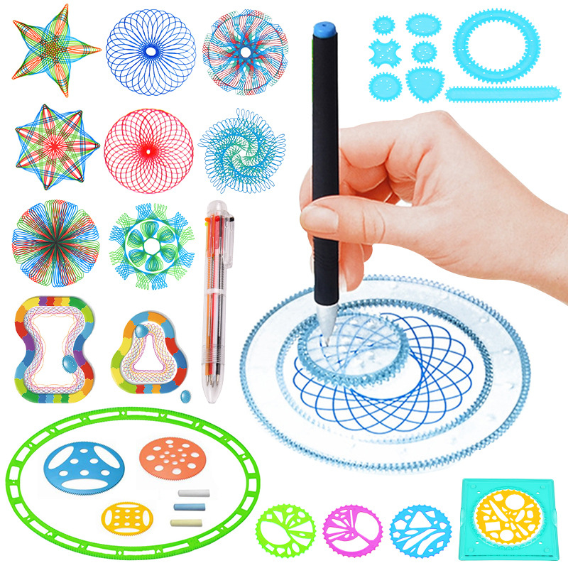 Multi-function Painting Puzzle Spirograph Geometric Ruler Drafting Tools For Students Drawing Toys Children Learning Art Tool