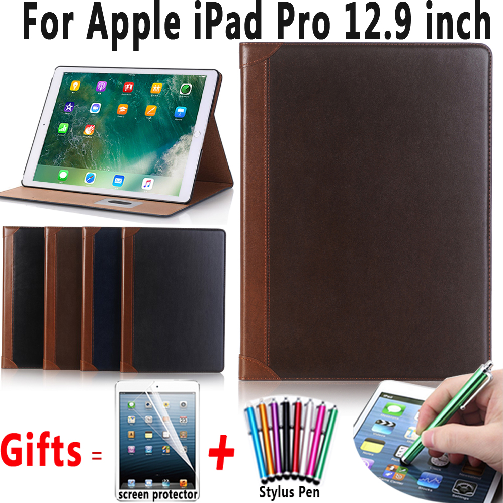 Premium Leather Smart Auto Sleep Awake Cover for Apple iPad Pro 12.9 2017 2015 Case A1670 A1671 A1584 A1652 Coque Capa Funda