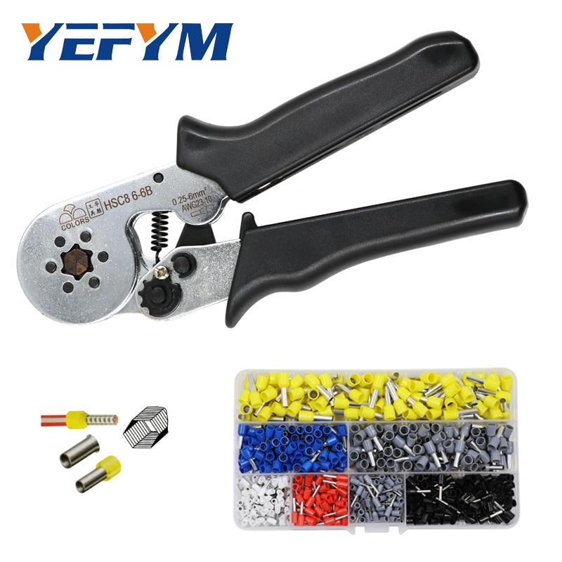 цена на YEFYM crimping tool hsc8 6-6 6-4 crimper kablo kesici pliers cable crimp tools plier wire cutter alicate crimpador alicates