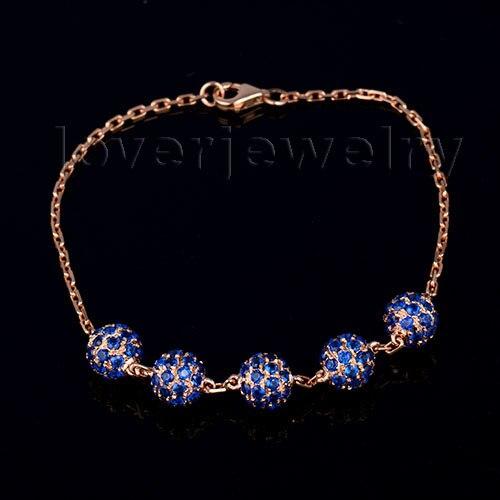 Natural Blue Sapphire Bracelet Bangle,Engagement Bracelet Bangle For Sale In Solid 18Kt Rose Gold цена