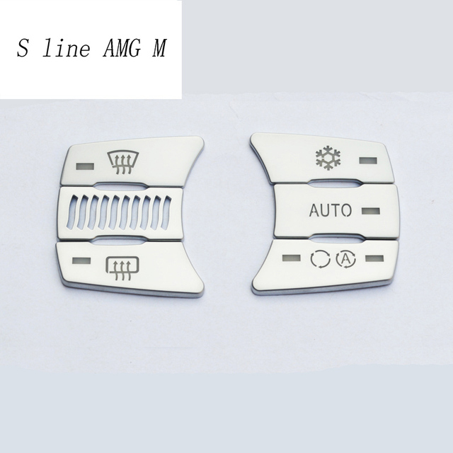 Car styling Air conditioning CD control Buttons decoration panel Stickers covers  for BMW e60 5 series Interior auto accessories