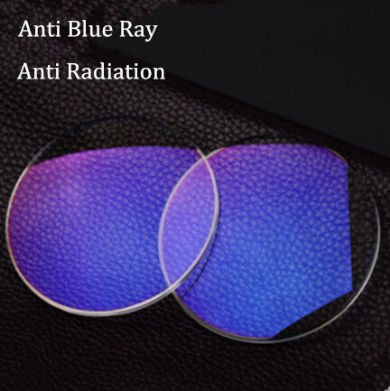 1.56 índice claro Color de lentes Anti radiación azul lentes Ray para los ojos con receta