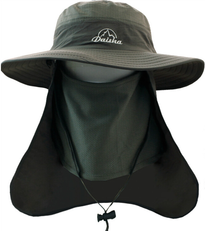 Outdoor Quick Drying Sun Hat Men Sports Breathable Fishing Hats With Face  Neck Cover Round Rrim UV Protection Climbing Visors 64af291c343