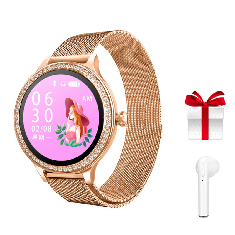Smartband earphone set fitness bracelet with pressure measurement sports health wristband activity tracker bracelet femme 2019
