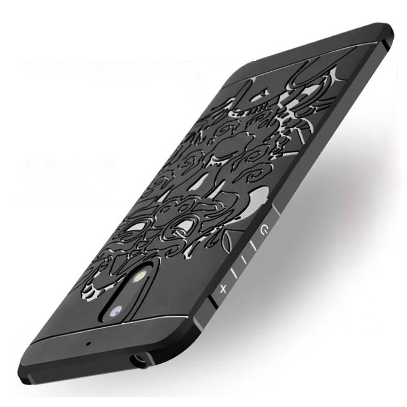 wholesale dealer 62b83 78d95 US $6.67 |5.5inch for Nokia 6 Shockproof Case 3D Dragon Hybrid Rubber Back  Cover Plain Soft Silicone Cases for Nokia 6-in Fitted Cases from Cellphones  ...