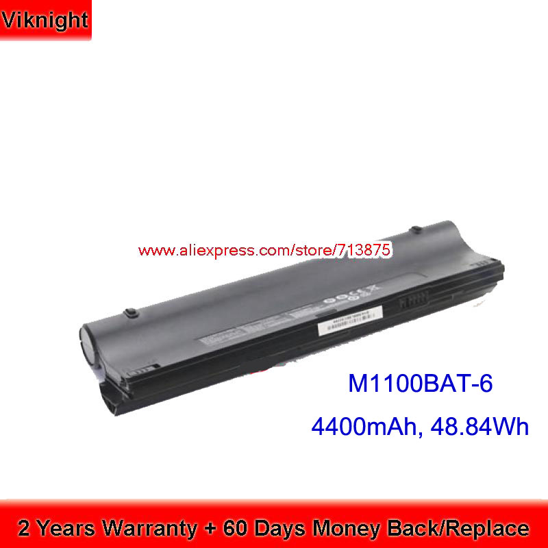 Genuine M1100BAT-6(SIMPLO) Laptop Battery for Clevo M1100 HCL ME NETBOOK L08 hsw genius laptop battery for clevo m1100 m1110 m1111 m1115 6 87 m110s 4d41 6 87 m110s 4df 6 87 m110s 4df1 m1100bat