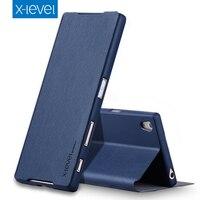 Чехол X-Level из искусственной кожи чехол для sony Xperia Z5 Dual E6633 Роскошный чехол-подставка для Fundas sony Z5 E6653 деловой стиль флип чехол Z4