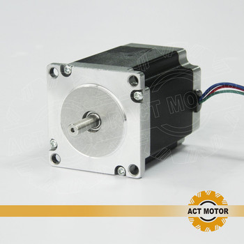 ACT Motor 1PC Nema23 Stepper Motor 23HS8430 4-Lead 270oz-in 76mm 3.0A Bipolar CE ISO ROHS CNC Router Engraving Machine Cutting image