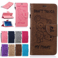 Cases Cover For Samsung Galaxy Grand Prime G530h G531h Wallet Leather Cool Bear Mobile Phone Bag Shell Fundas Etui Capinha Coque