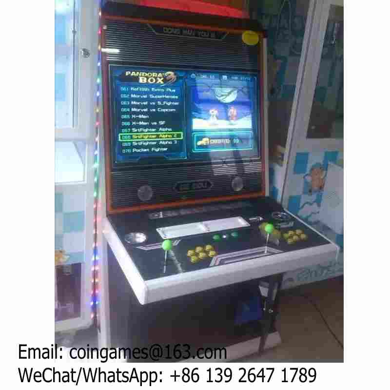 Pandora Box Street Fighter Amusement Coin Operated Mini Cabinet Video Arcade Game Machine For Kids And Adults good quality coin operated tabletop gumball vending machine desktop capsule vending cabinet toy penny in the slot coin vendor