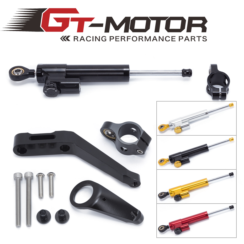 GT Motor -FREE SHIPPING For Honda CBR954RR 2002-2003 Motorcycle Aluminium Steering Stabilizer Damper Mounting Bracket Kit free shipping for honda cb400 vtec 1999 2010 motorcycle aluminium steering stabilizer damper mounting bracket kit