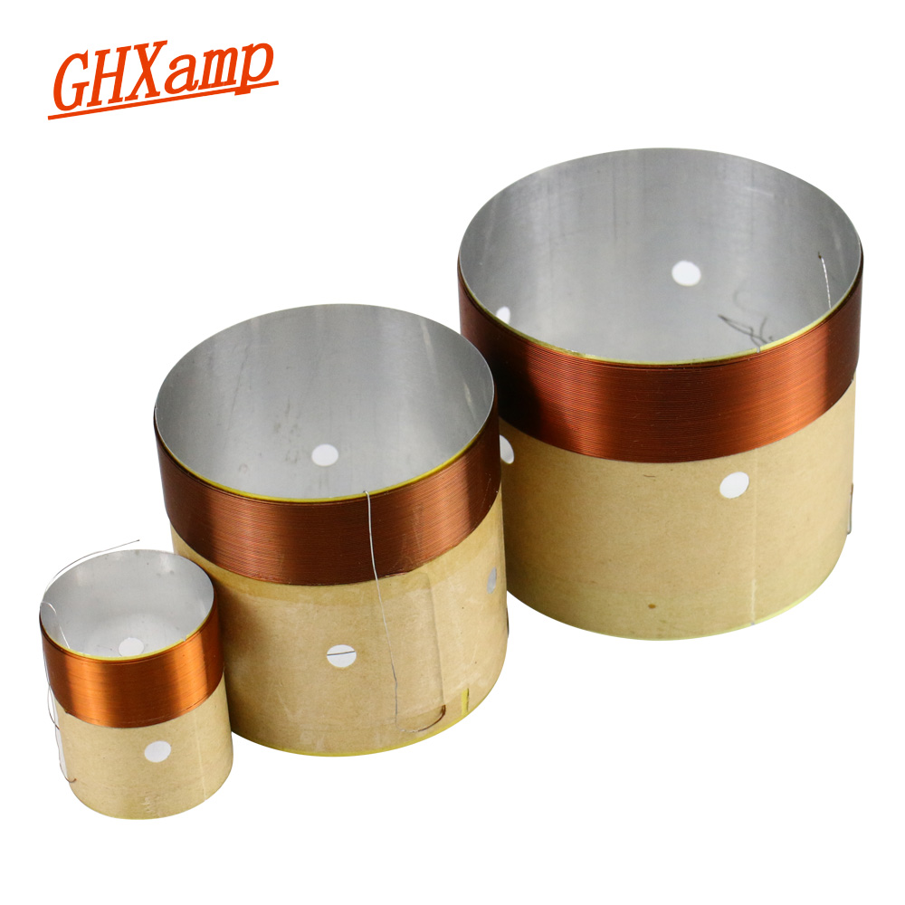 Image 2 - GHXAMP Speaker BASS Voice Coil 4inch 6.5 INCH 10 INCH 18 Inch Subwoofer Speaker Repair 8OHM White Aluminum Sound Air Outlet 2PCS-in Speaker Accessories from Consumer Electronics