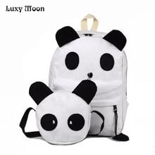 Новый panda школьного рюкзака Mochilas матери и ребенка 2 шт./компл. мягкие рюкзаки для подростков girlsfashion школьная сумка Распродажа!! EB169