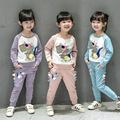 2016 spring autumn Girls Kids Boys Dinosaur Long Sleeve T-Shirt + Leggings Set comfortable cute baby Clothes Children Clothing 2