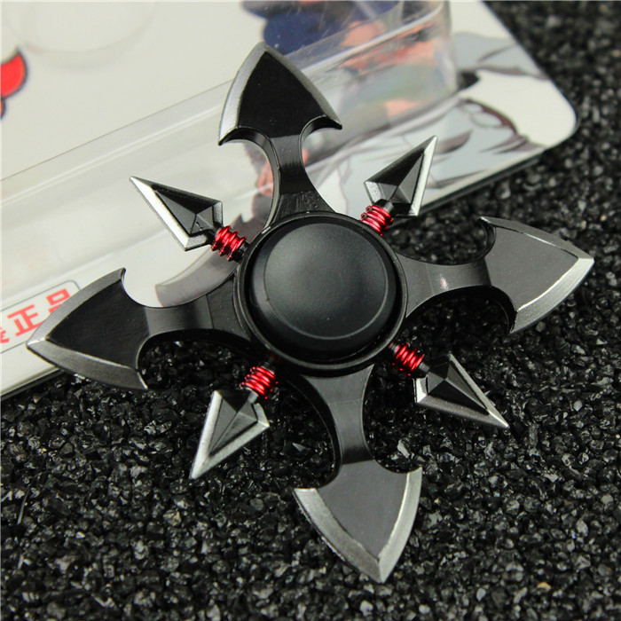 Ninja Darts Spinner Fidget Toy Metal EDC Naruto Hand Spinner Metal Autism And ADHD Increase Focus Keep Hand Fidget Spinner Metal