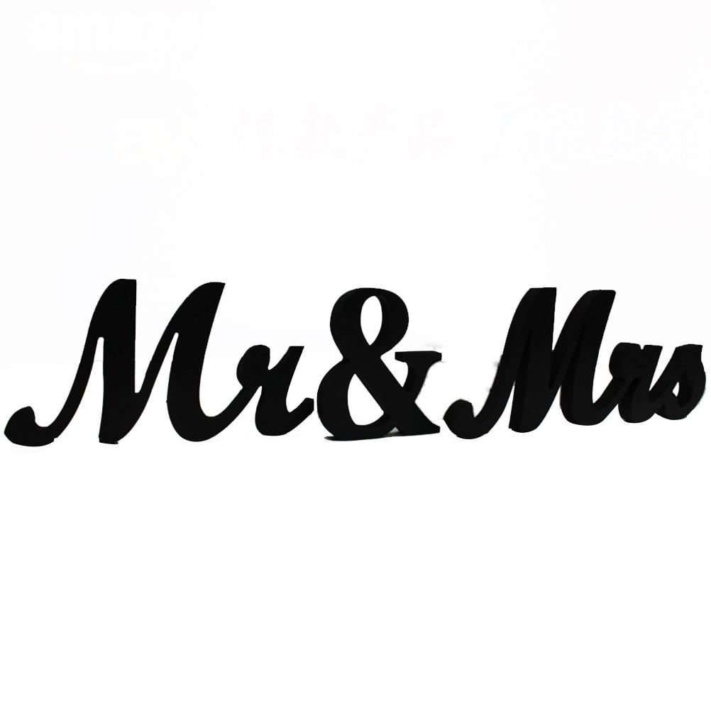 1pcs vintage mr mrs wooden letters for wedding decoration sign top table present decor