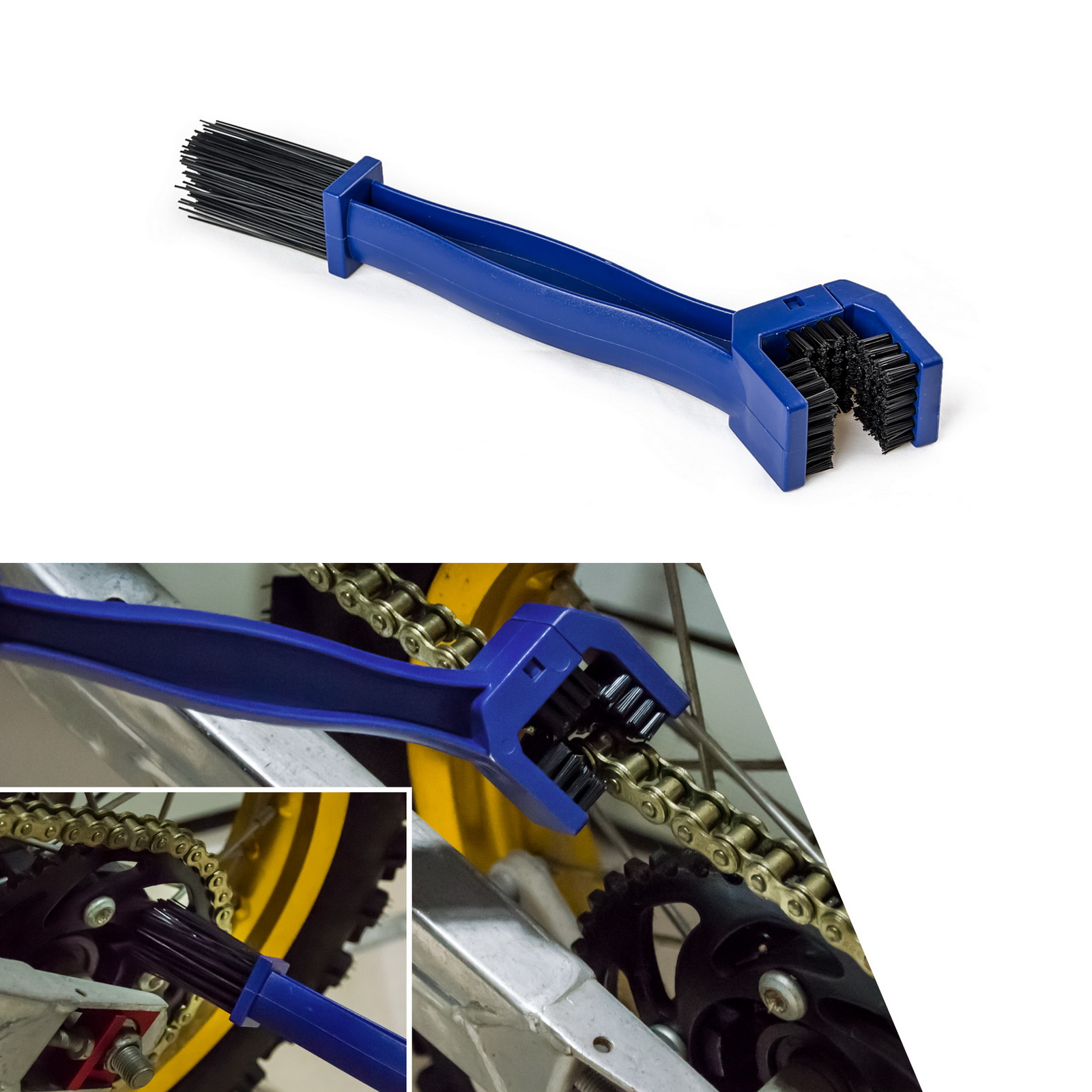 H2CNC Bicycle Motorcycle Chain Cleaning Brush Gear Grunge Clear Outdoor Scrubber Wheel Cleaner Dust Removal Tool Durable Plastic