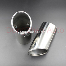 Dongzhen 2pcs Auto Car Exhaust Muffler Tail Stainless Steel Pipe Chrome Trim for Volvo XC90 2013 Car Rear Tail Throat Exhause