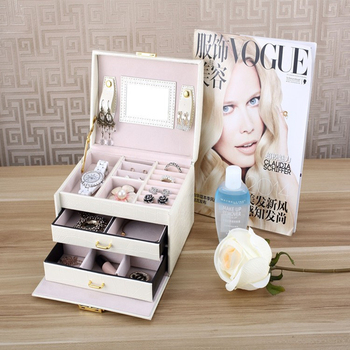 Jewelry Packaging Box Casket Box For Jewelry Exquisite Makeup Case Jewelry Organizer Container Boxes Graduation Birthday Gift 1