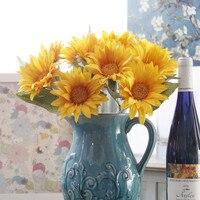 Hochzeitsdekoration Blumen anordnung, 15 stücke große daisy & vase set, tischdekoration, gelb orange rot blau