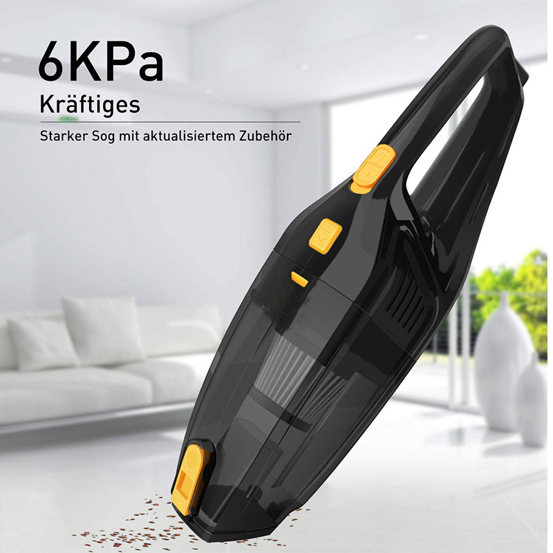 120W 6 KPa Strong Power Deep Clean Car Vacuum Wireless Auto Electronic Cleaner Portable Dry & Wet Vacuum Cleaner For Auto Home