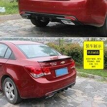Para Cruze spoiler Traseiro ABS Traseiro Protetor Bumpers Bumper Difusor Para 2009-2014 Chevrolet cruze Depois de cromo traseira lábio spoiler