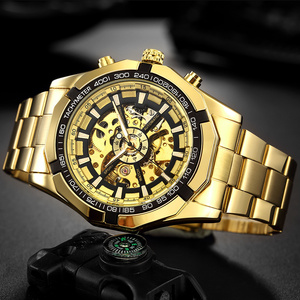 Image 2 - FORSINING Men Fashion Skeleton Mechanical Watch Casual Sport Waterproof Mens Classic Business Wristwatch Relogio Masculino