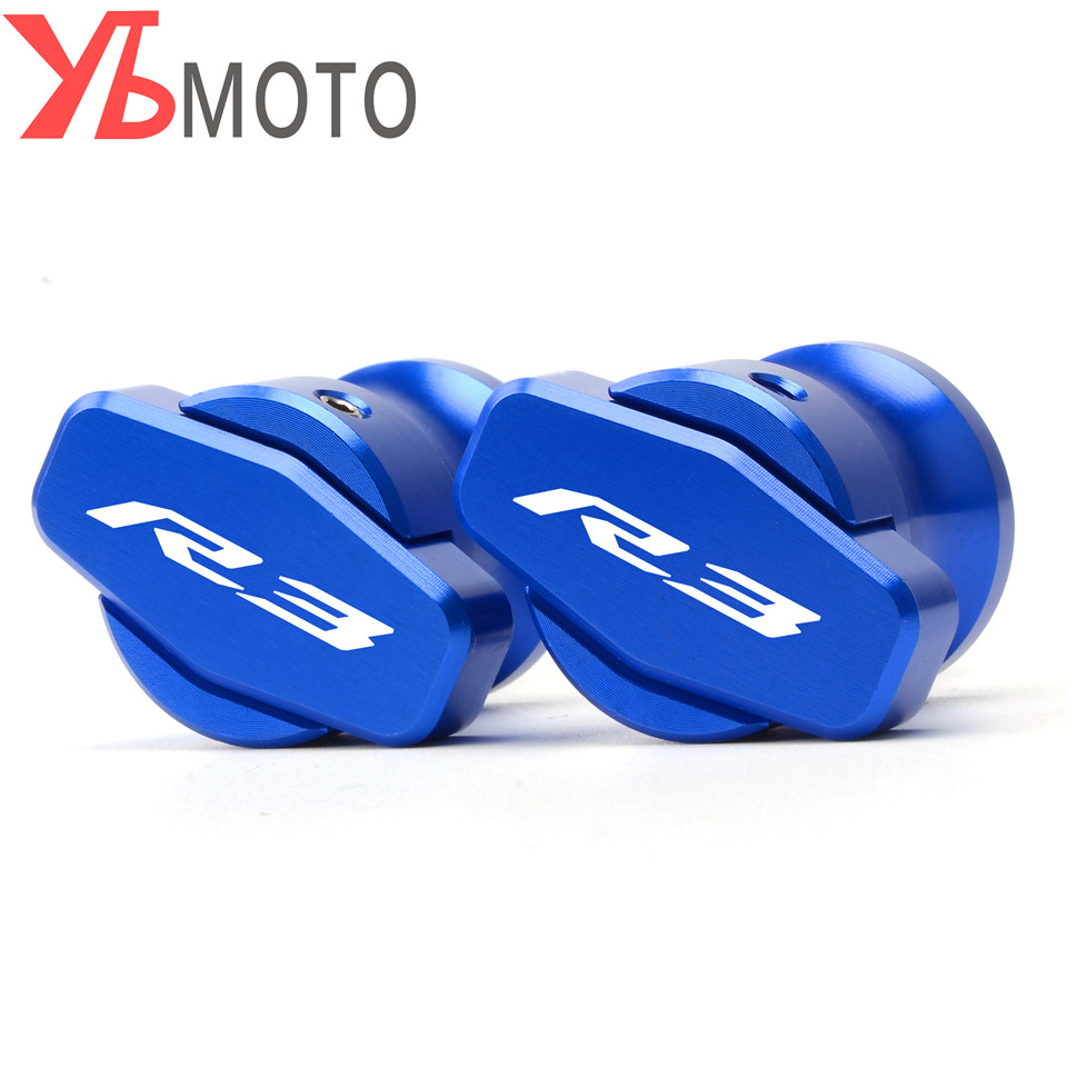 For YAMAHA R3 CNC Motorcycle Accessories Swingarm Spools Slider 6mm Swing arm Stand Screws R3 LOGO 2015 2016 2017 2018 цены