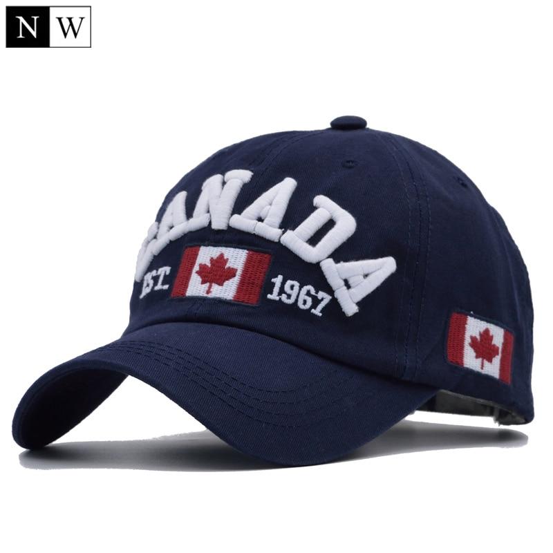 [NORTHWOOD] 2018 Cotton Gorras Canada Baseball Cap Flag Of Canada Hat Snapback Adjustable Mens Baseball Caps Brand Snapback Hat