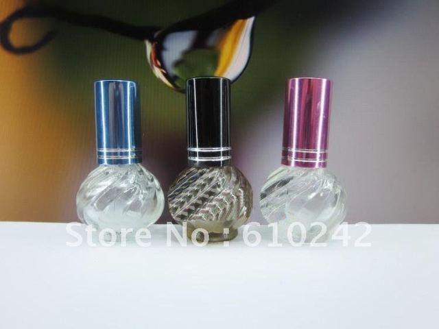 Pretty Glass Perfume Atomizer Bottles Sprayer Empty scent Bottle Container 6ml 50pcs/lot