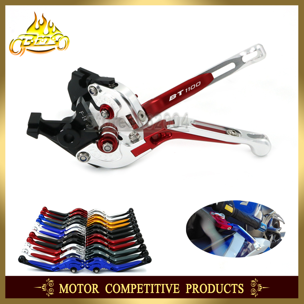 Free shipping Folding Extendable Adjustable Motorcycle Brakes Clutch Levers For YAMAHA BT 1100 BT1100 2003 2004
