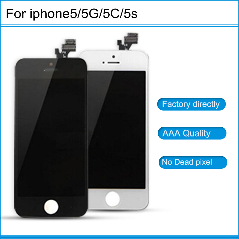 NEw AAA Grade LCD Touch Screen Digitizer Assembly Front Screen LCD Display Replacement in White and Black For iPhone 5 5G 5C 5S