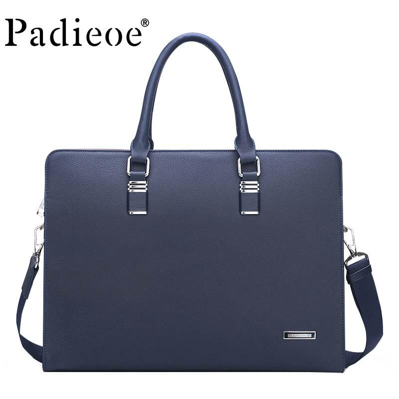 Ipad Männer Leder Luxus Handtasche Herren Casual Original Schulter blue Geschäftsleute Aktentasche Tasche Black Rindsleder Umhängetasche zqArZz