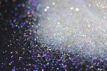 Ultra ince renkli kıvılcım Solvent dayanıklı beyaz yanardöner Glitter 015 boyutu, 0.5mm