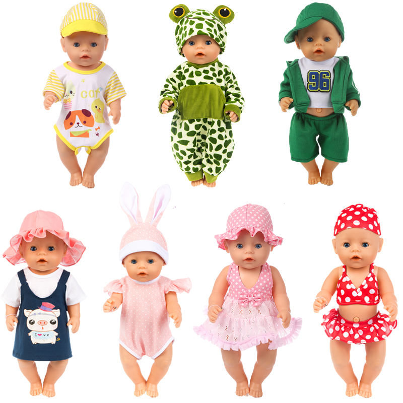 7days Suit Colors Clothes Zapf Baby Born Doll Clothes Doll Accessories 17in American Girl Doll Shoes Fashion Doll Children Gift 9 colors american girl doll dress 18 inch doll clothes and accessories dresses