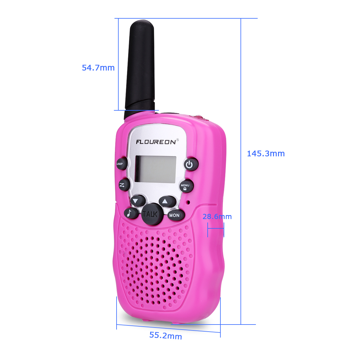 FLOUREON 8 Channel Twin Walkie Talkies UHF400-470MHZ PMR446 2-Way Radio  Handheld Kid Toys Intercom 3km Walkie Talkie Transceiver