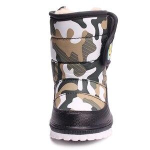 Image 3 - SKHEKเด็กรองเท้าสำหรับเด็กSnow BotasฤดูหนาวWarm Plush Baby Bootกันน้ำด้านล่างนุ่มลื่นbootiesรองเท้าเด็ก