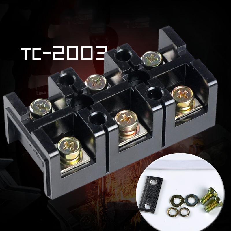 цена на ELECALL Dual Row Screw Terminal Block StripTC-2003 600V 200A  3 Positions