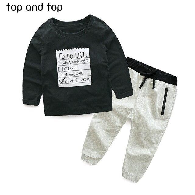 Brand Abbigliamento Per Bambini.Us 9 15 30 Di Sconto 2018 Brand New Ragazzi Abbigliamento Set Bambini Vestito Di Sport Dei Bambini Tuta Ragazzi Lungo Shirt Pants T Abbigliamento