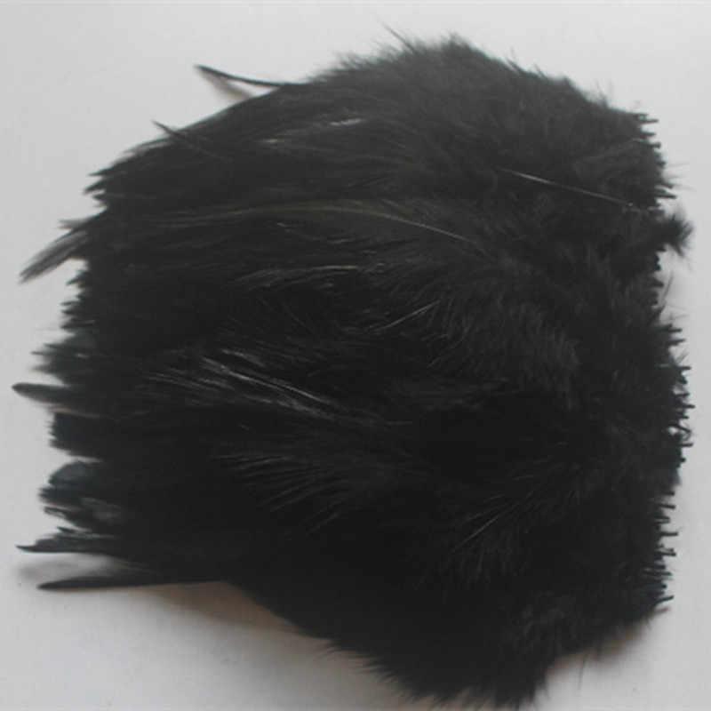 Venta al por mayor 20 bonitos 4-6 pulgadas/10-15 cm negro faisán cuello plumas DIY ropa sombrero Decoración
