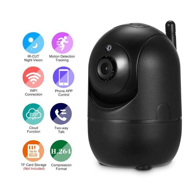 1080P kamera WIFI bezprzewodowy niania elektroniczna Baby Monitor IP kamery detekcja ruchu noc wizja bezpieczeństwo w domu kamera WIFI bezpieczeństwa zestaw do organizacji