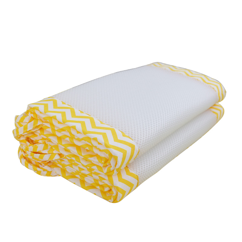 2Pcs/Set Breathable Summer Baby Bedding Bumper Collision Half Around baby bumper crib set Cotton Printing Mesh Safety Rails