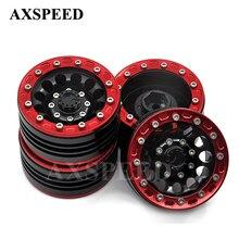 4 шт. RC 1:10 рок гусеничные колеса автомобиля холодный металлический сплав колесные диски 1,9 дюймов Beadlock колеса концентраторы для SCX10 CC01 RC Запчасти
