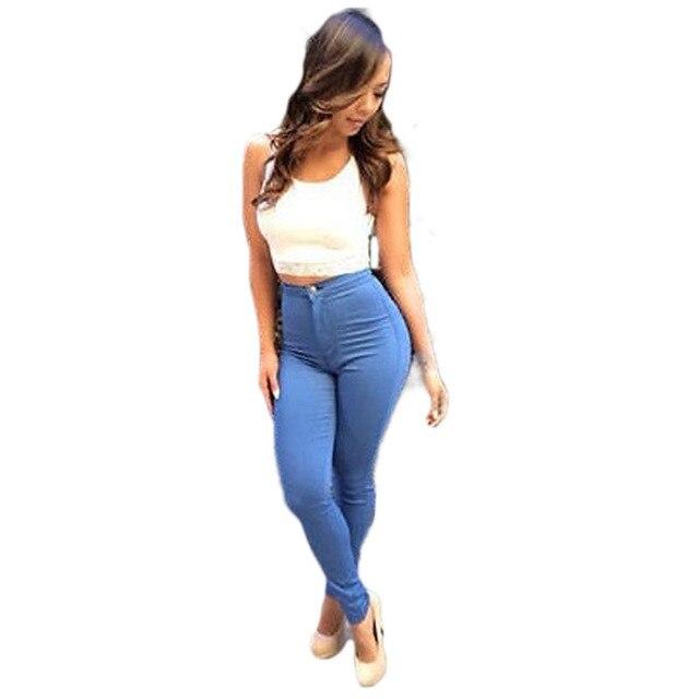 aff1ddb374 Hot sale women butt lifting jeans high waist slim skinny elastic jeans denim  slim thin jeans dark wash jeans pencil pants