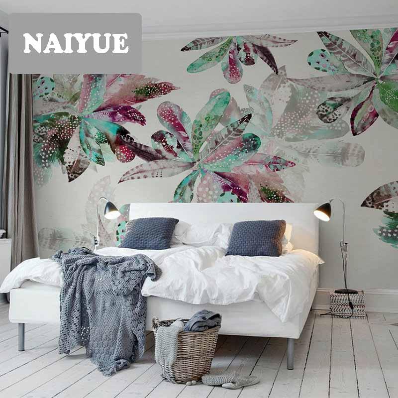 Papel pintado de arte creativo americano fondo de pared pegatinas de la sala de estar TV personalidad de la pastoral Europea personalizado mural