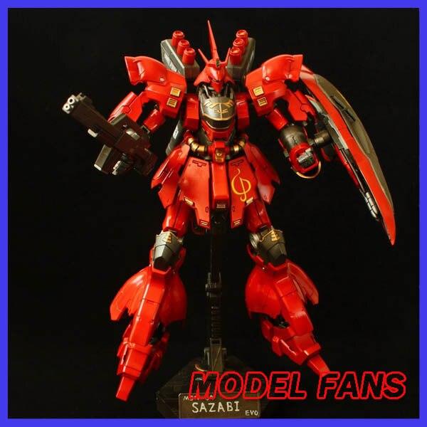 MODEL FANS Gundam model hg 1:144 assembly SAZABI EVO MSN04 Free shipping model fans m3 model pg 1 60 red heresy gundam special large sword backpack gift water paste free shipping