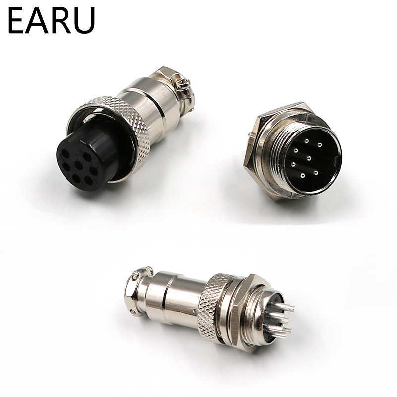 """1 Juego de 5/8 """"GX16-2/3/4/5/6/7/8/9/10 Pin macho hembra 16mm cable conector Circular M16 GX16 conector de aviación enchufe de Metal"""