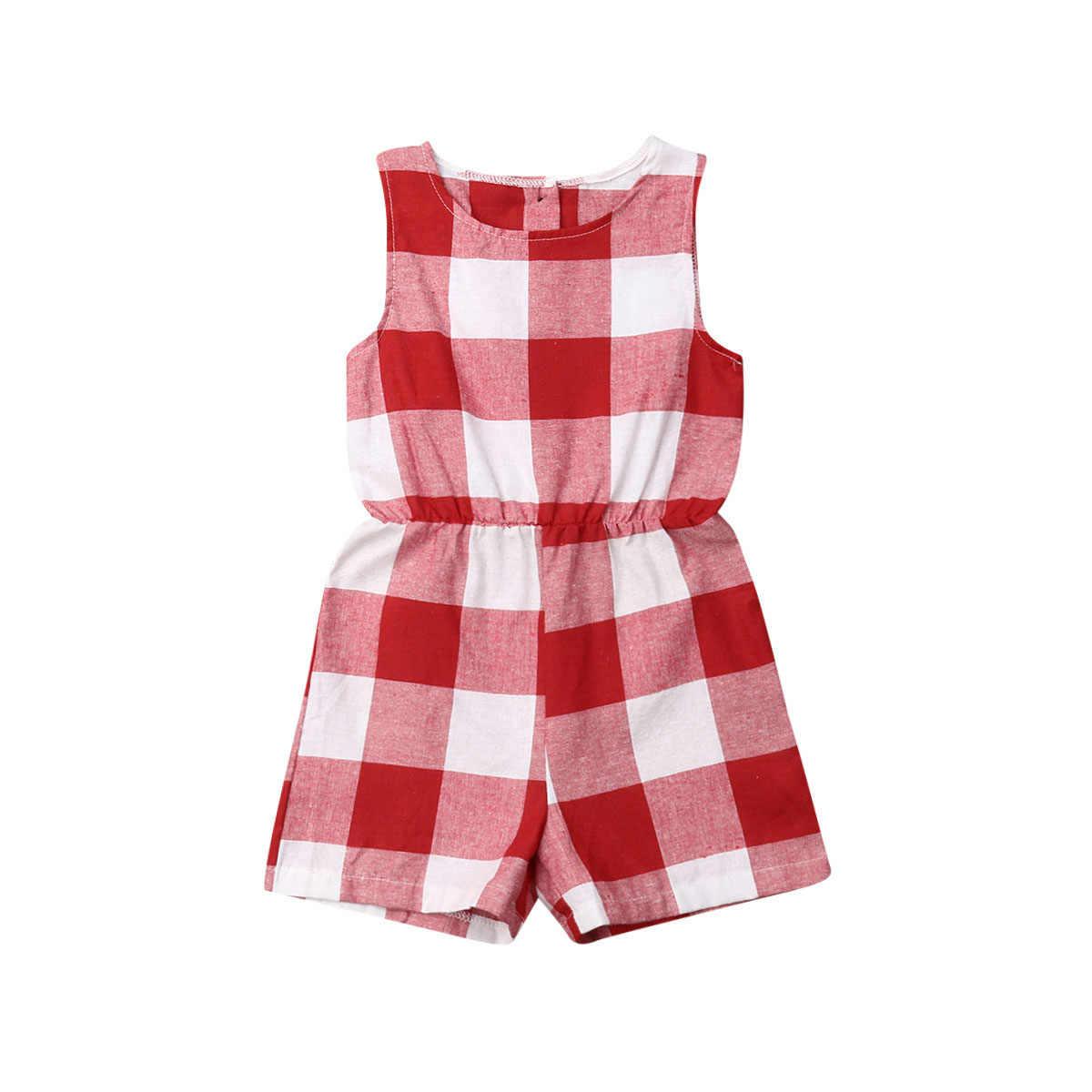 母娘家族マッチング衣装服格子縞の親子子供ドレスベビー女の子ママロンパースファッション夏女性子供衣装