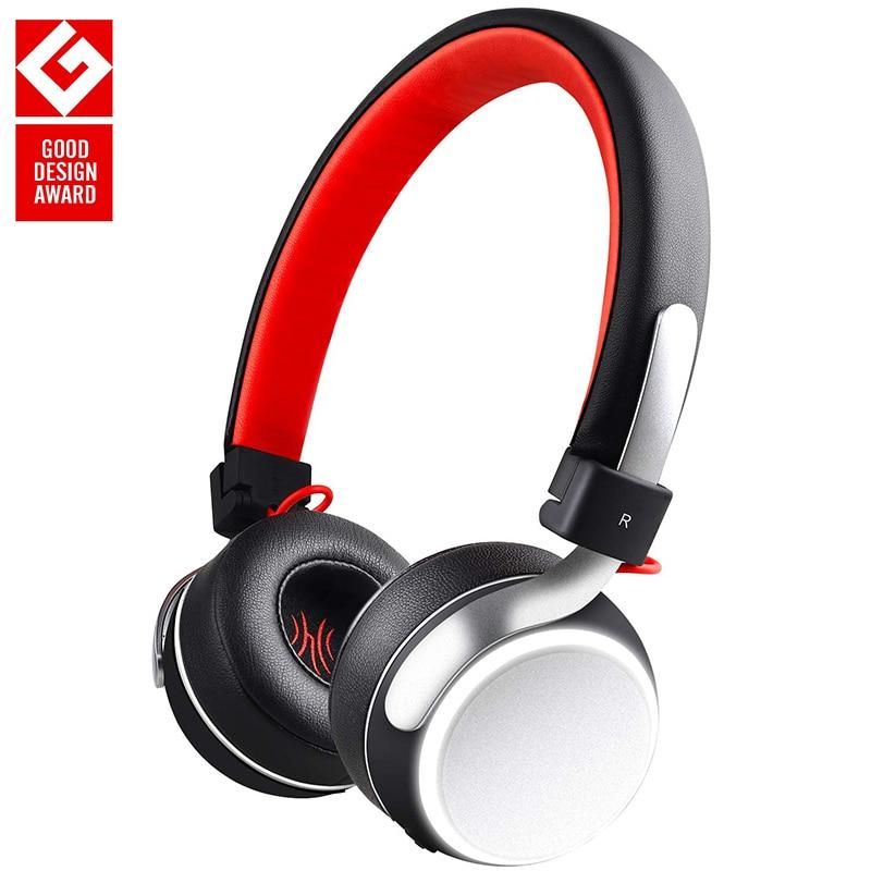 Oneodio Bluetooth 4.2 Headphones LED Light On Ear Deep Bass Wireless Headset With Microphone Metal Foldable Headphone For Phone